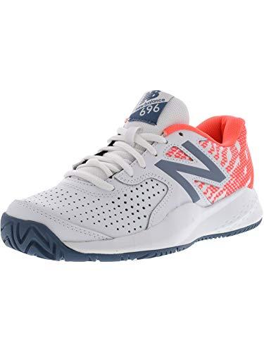New Balance Women's 696v3 Hard Court Tennis Shoe, White, 5.5 B US