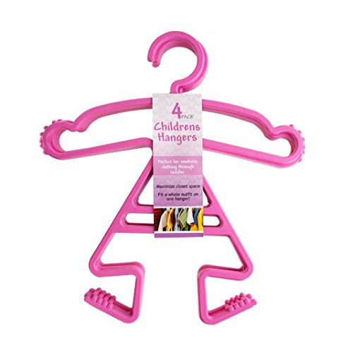 Baby, Toddler, Childrens' Girl Shaped Clothes Hanger 2 Sets of 4 Pack Each by Kole