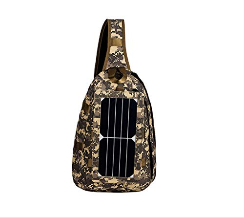 Bag Leisure Solar ZHANGQIAN Charging Outdoor 1 Chest Casual Function Camouflage Multi Bag Men's Bag Travel wRRqx5ta
