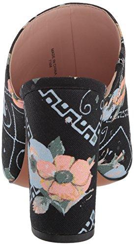Avec Filles Heeled Canvas Les Bandana Printed Margaux Black Poppy Sandal Women's 44xpqw5Rr