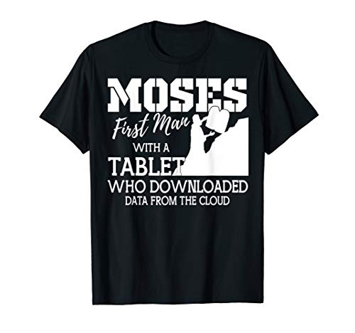 Passover Moses Tablet Data Cloud T-Shirt