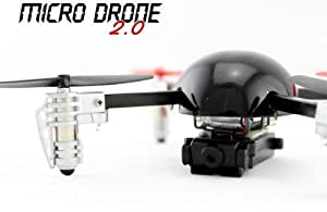 Extreme Fliers Remote Control Flying Quadricopter Micro Drone 2.0 with Video Camera Module- Black