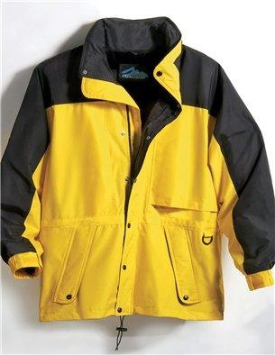 (Premium Quality Men's 100% Toughlan Nylon Parka Climax Jacket - Yellow Gold/Black, 6XL)