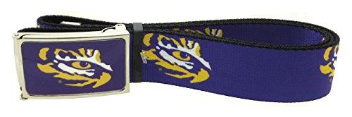 Tiger Cotton Belt (LSU Tiger Eye Logo Web Belt 1.5