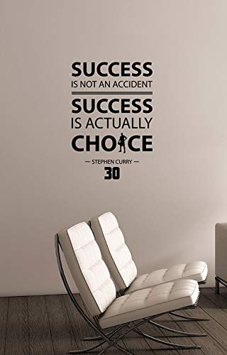 Success Is Not An Accident Inspirational Quote Wall Decal Vinyl