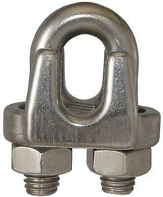 (25-Pack) 5/16'' Stainless Steel Malleable Wire Rope Clips