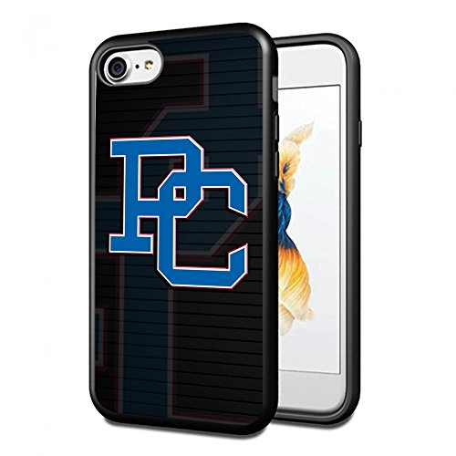NCAA University sport Presbyterian Blue Hose , Cool iPhone 7 Smartphone Case Cover Collector iPhone TPU Rubber Case Black [By - 466 Rubber