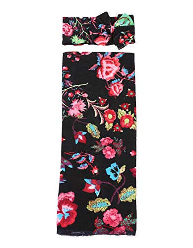 Atlantic Four - NEXT ATLANTIC Baby Wrap Receiving Blanket (Floral Design 4, 1)