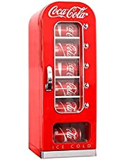 Coca Cola CVF18 10-Can Capacity Portable Vending Fridge, Red