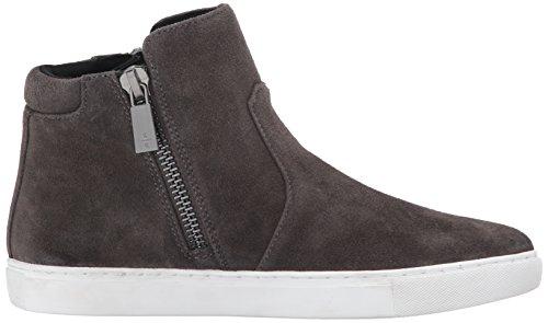 Kenneth Cole New York Womens Kiera High Top Double Zip Suede Fashion Sneaker Asphault fs1ZHRf9G