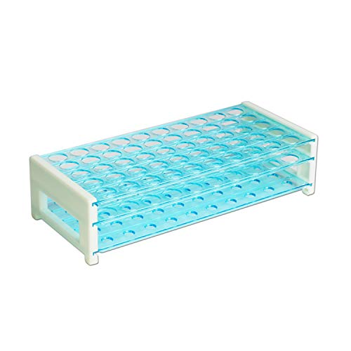 (ULAB Scientific Detachable Test Tube Rack for Tubes of Dia.≤17mm, 50 Holes, PS Material,)