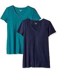 Women's 2-Pack Short-Sleeve V-Neck Solid T-Shirt