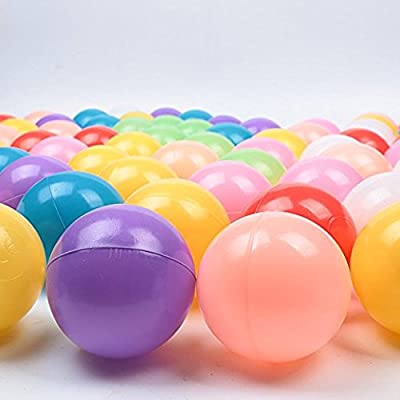 Real Relax 1500pcs 5.5cm Colorful Ball Soft Plastic Ocean Ball for Baby Kid: Sports & Outdoors