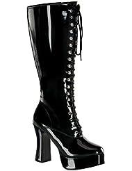 Funtasma Womens PLUS SIZE 4 Inch Sexy WIDE WIDTH WIDE CALF Knee High Boot Black Platform