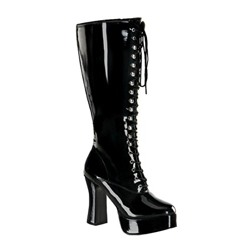 Funtasma Womens PLUS SIZE 4 Inch Sexy WIDE WIDTH WIDE CALF Knee High Boot Black Platform Size: (Sexy Black Knee High Boots)
