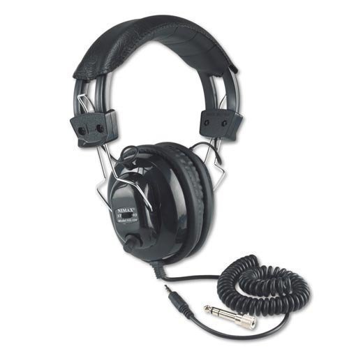 Amplivox SL1002 Deluxe Stereo Leatherette Headphones with Mono Volume Control by Amplivox