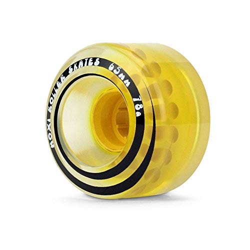 Moxi Skates - Classic - Outdoor Roller Skate Wheels - 4 Pack of 40mm x 65mm 78A Wheels | Pineapple