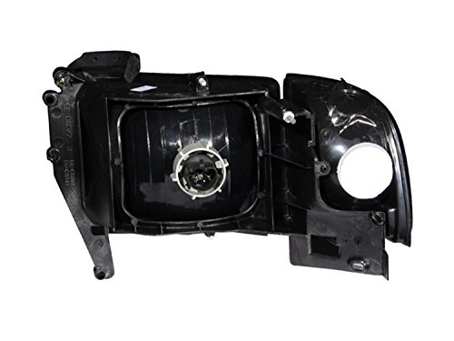Anzo USA 111067 Dodge Ram Crystal Black with Corner Headlight Assembly - (Sold in Pairs) (Dodge Ram 2500 Halos)