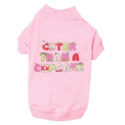 Zack and Zoey Polyester/Cotton Cupcake Dog Tee, Medium, Pink, My Pet Supplies