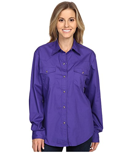 Roper Women's L/S Solid Basic Snap Front,