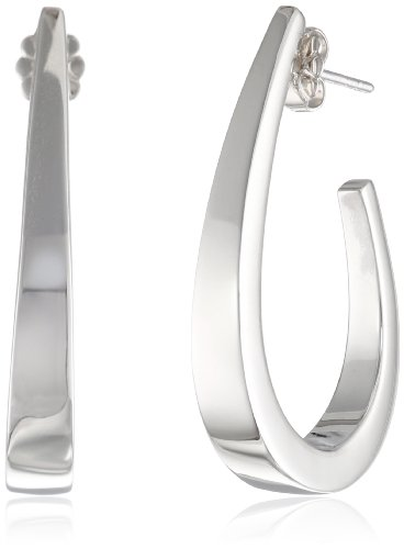 Zina Sterling Silver Classic J Earrings by Zina Sterling Silver