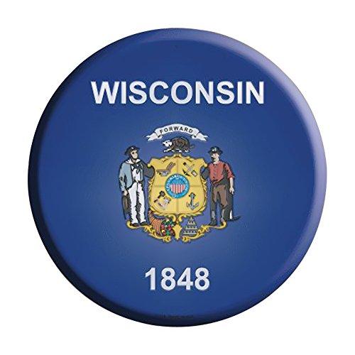 Smart Blonde Wisconsin State Flag Metal Circular Parking Sig