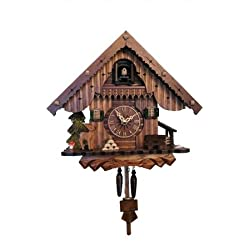 405QM - Engstler Battery-operated Cuckoo Clock - Full Size - - 9H x 10W x 6D