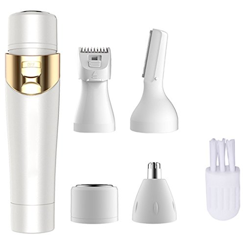 Facial Hair Removal, Kapmore 4 in 1 Painless Hair Remover Nose Hair Trimmer Eyebrow Trimmer Facial Hair Trimmer Body Hair Trimmer for Women