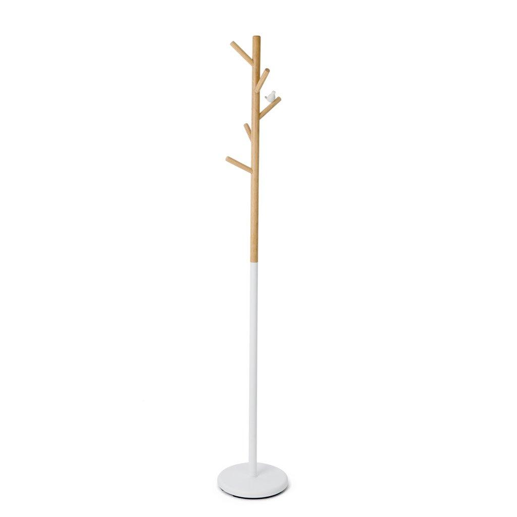 Balvi Appendiabiti Birdie Colore Bianco con 5 Ganci con la Silhouette di Uccellini Metallo//Legno 177cm