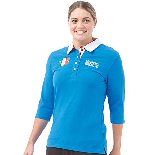 Italia Rugby Polo Shirt Mujer Rugby World Cup Womens 3/4 Sleeve ...