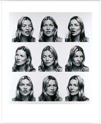 ポスター コリン デイ Kate Moss (ケイトモス) 額装品 アルミ製ベーシックフレーム(ホワイト) B0097J6CYIホワイト