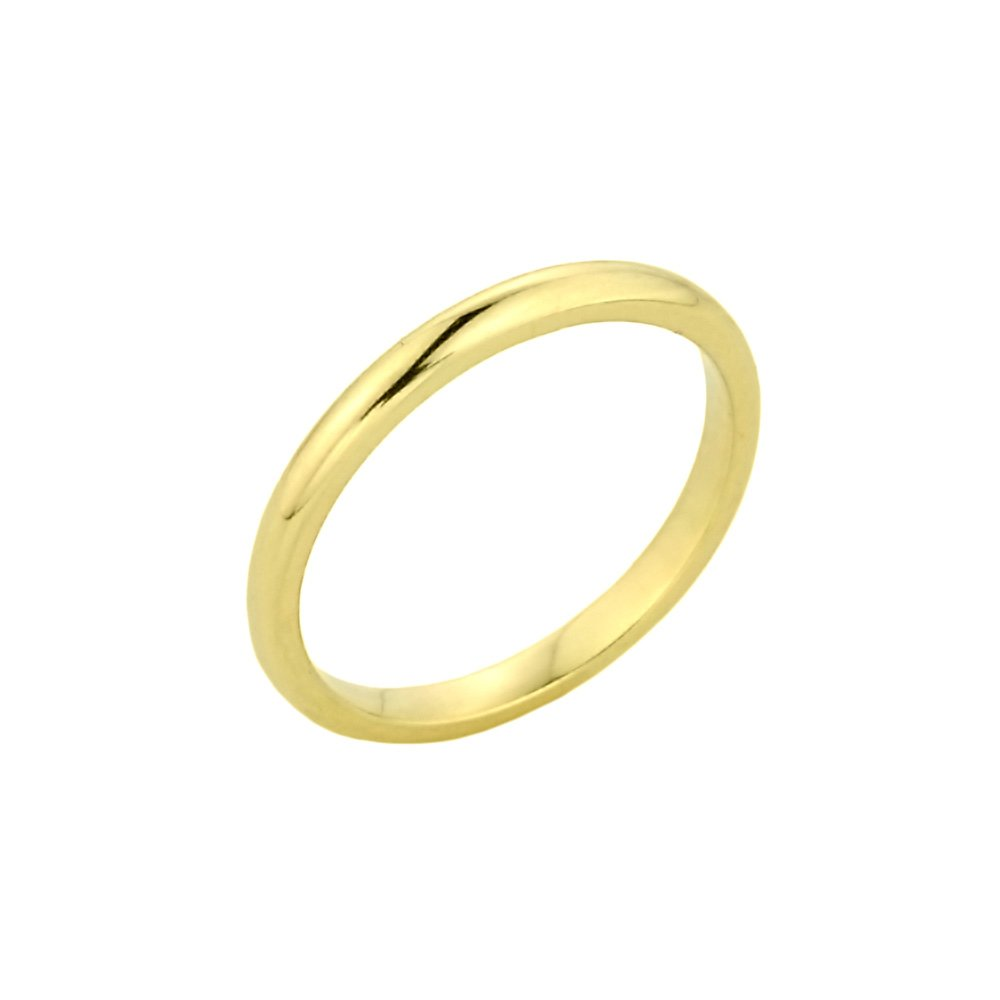 Stacking 14k Yellow Gold Mid Finger Band Above the Knuckle Midi Ring, Size 4