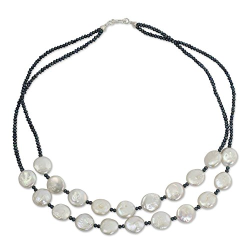 NOVICA Dyed White Cultured...