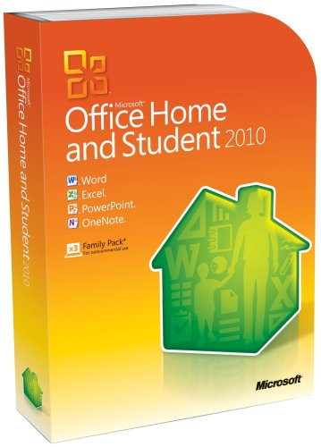 Microsoft Office Home and Student 2010 Family Pack, 3PC (...