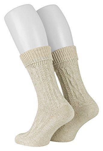 Piarini® 1 Paar Trachten-Socken mit Zopf-Muster im Landhaus-Stil 43-44