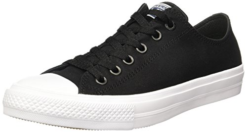 Converse Unisex Chuck Taylor II Ox Black/White/Navy Casual Shoe 8 Men US / 10 Women US - Converse All Star Multi Eyelet