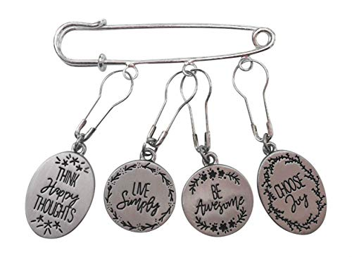 Stitch Markers Knitting Crocheting Happy Thoughts