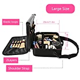 Gloriest Travel Makeup Bag (3 Layer) with