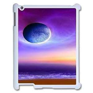 3D Cases for IPad 2,3,4 2D, Purple Moon Cases for IPad 2,3,4 2D, Vinceryshop White by supermalls