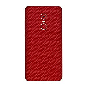 For Xiaomi Redmi Note 4 Mobile Skin Wrap Back and Side by Smart Saver - Carbon Red