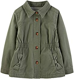 Baby and Toddler Girls Twill Button up Jacket
