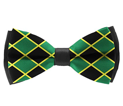 L Wright-King Jamaican Flag Stripe Caribbean Mens Pre-Tied Formal Tuxedo Bowtie for Adults & Children ()