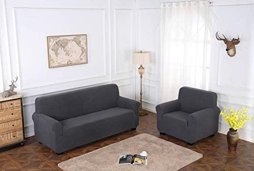 TIANSHU Funda de sillón,Material Jacquard poliéster y Elastano Fundas de sofá Suaves Resistentes(Funda de sillón,Gris)