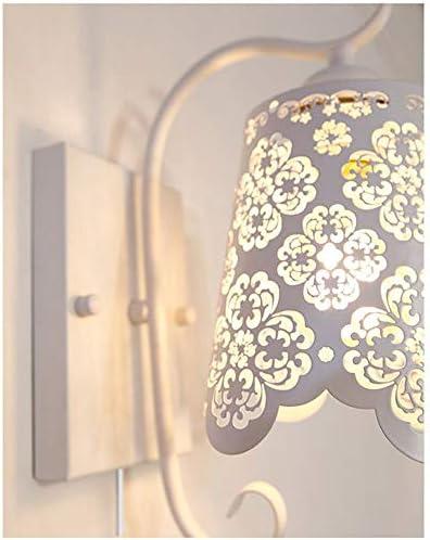 Kiven Iron Art 1 Light Wall Lamps European Style Hollow Wall Sconces UL Certification Plug-in Button Cord Lighting Elegant Loft Decor