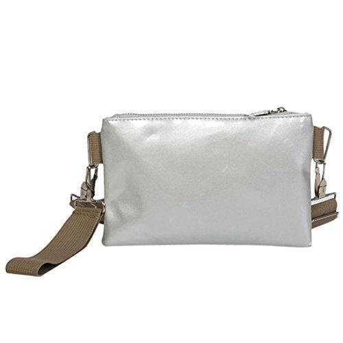 Hunzed Women Chest Bag, Fashion { Solid Color Shoulder Bag } { Zipper Messenger Bag } { Leather Handbag } ()