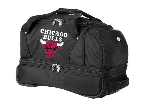 UPC 815485014912, NBA Chicago Bulls Denco 22-Inch Drop Bottom Rolling Duffel Luggage, Black