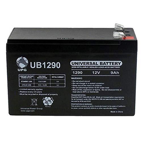 (Universal Power Group 12V 9AH Replaces Battery for Aqua-Vu AV360LCD Water Cam + 12V 1Amp Charger)
