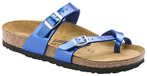 Birkenstock Women's Mayari Sandal Electric Ocean Birko-Flor Size 42 M EU - Footwear Electric