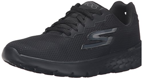 Skechers Go Run 400-Action, Chaussures Multisport Outdoor Femme Noir (Bbk)