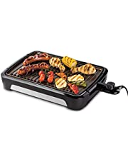 George Foreman Smokeless BBQ Grill, Rookloze Grill, Minder Geur, Vaatwasserbestendig, Vet Opvangbakje, Instelbaar 25850-56